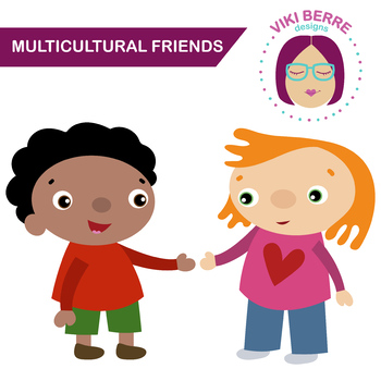 350x350 Multicultural Friends, Kids, Children, Clip Art, Cu Ok By Viki
