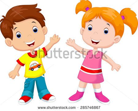 450x361 Stock Vector Cute Cartoon Boy And Girl 285746867.jpg