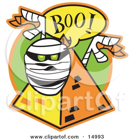 450x470 Clipart Illustration Of An Angry Mummy Emerging From His Coffin By