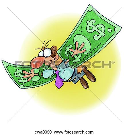 450x470 Money Wings Clipart Graphics