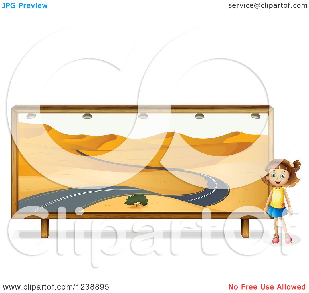 1080x1024 Clipart Of A Girl By A Desert Road Mural