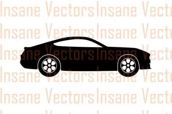 570x380 Ford Mustang Vector Silhouette Clip Art Image Mustang Vector