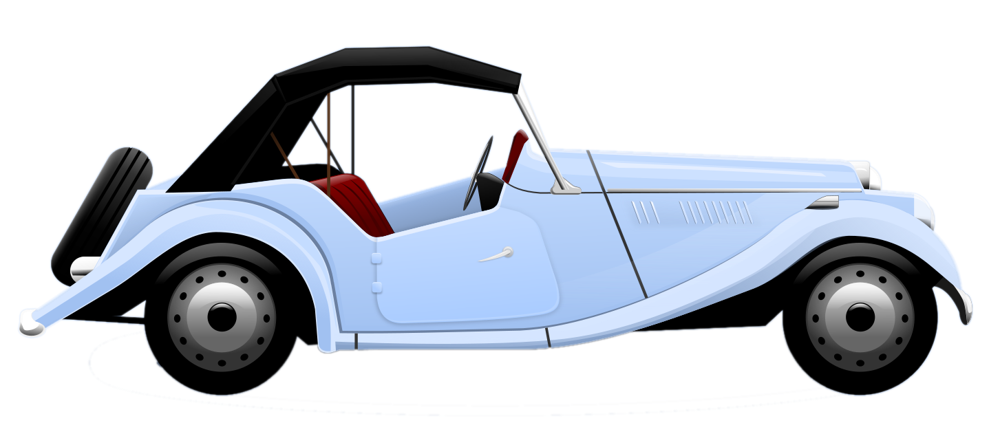 1453x631 Old School Cars Clipart