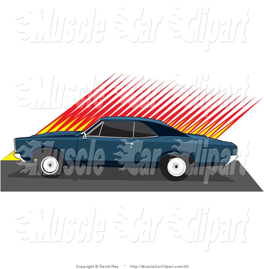 1024x1044 Vector Automotive Clipart Of A Dark Blue 1966 Pontiac Gto Muscle