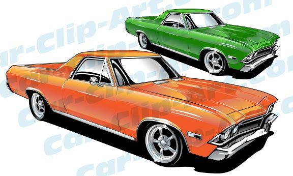 576x346 1968 El Camino Clip Art Art By Hotrodkristina El