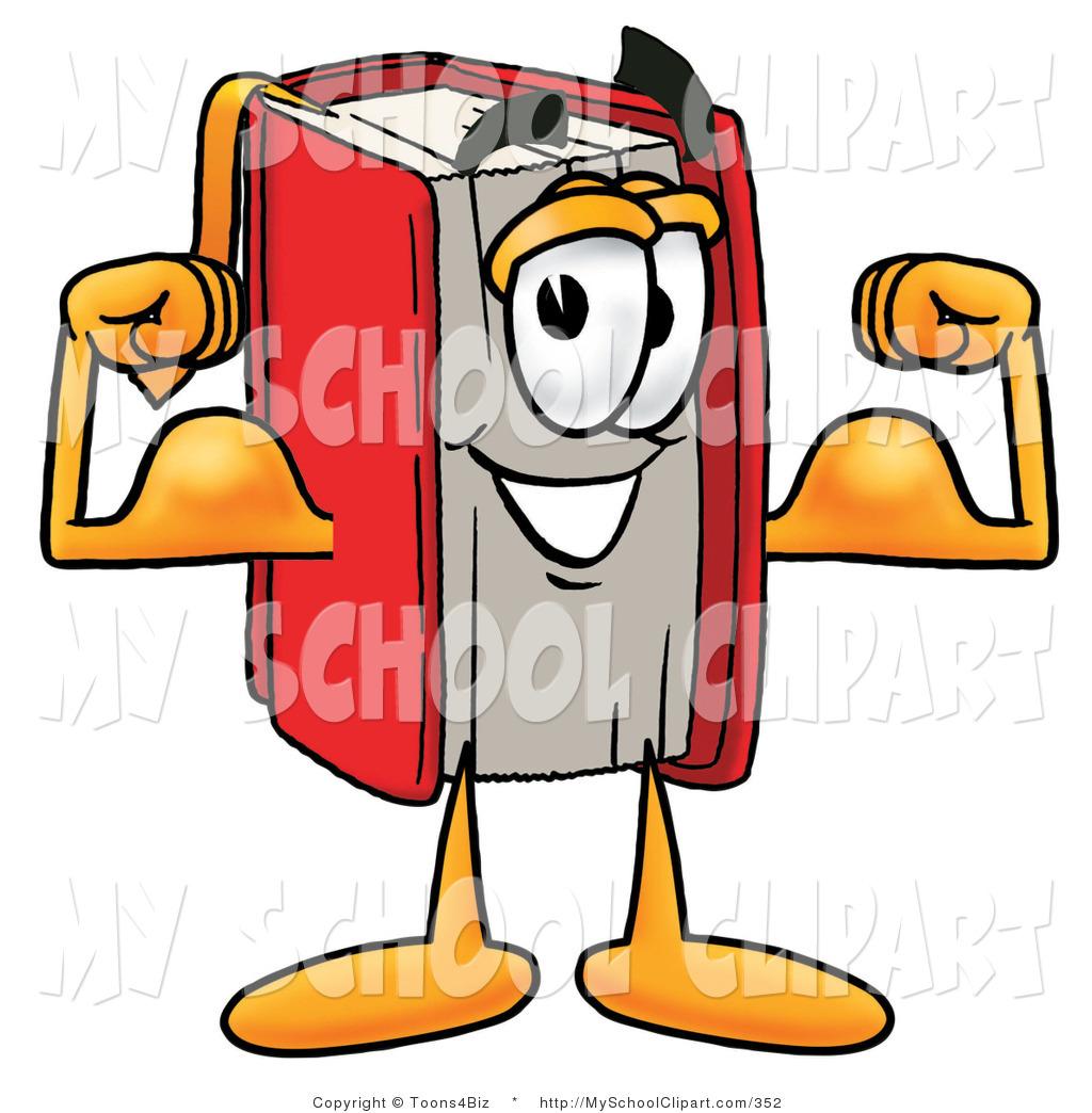 1024x1044 Clip Art Of A Muscular Red Book Mascot Cartoon Character Flexing
