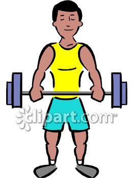263x350 Muscular Man Lifting Weights