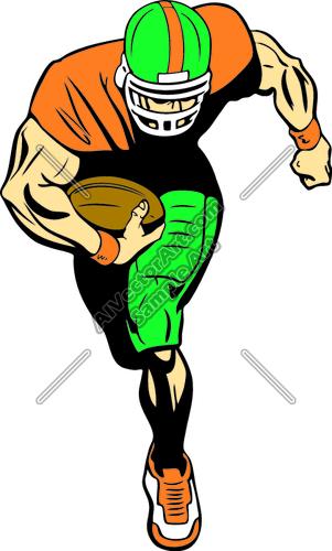 301x500 Football Player Clip Art