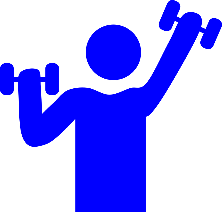 757x720 Musculalr Man Workout Clipart