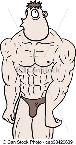 247x470 Creative Design Of Ugly Muscle Man Vectors