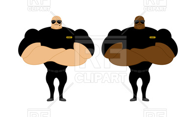 400x240 Security Guards, Bodybuilder, Powerful People With Big Biceps