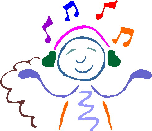 490x425 Clip Art Activities Listening To Music