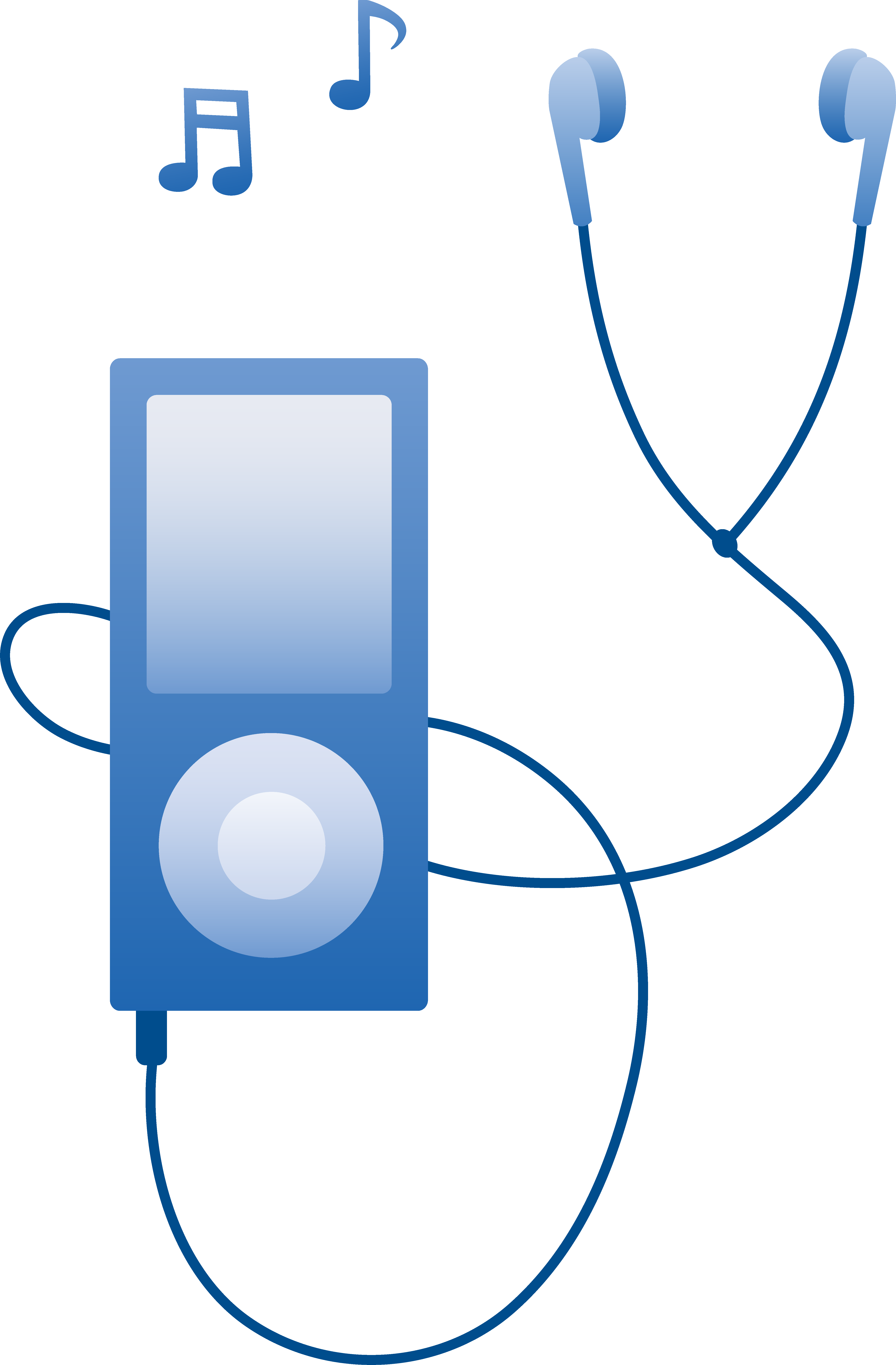 5200x7919 Blue Mp3 Player Playing Music