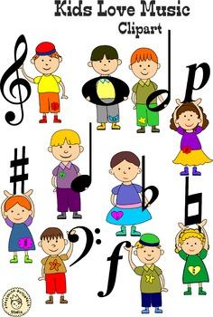 236x350 Kids Love Music Clip Art. By Anastasiya Multimedia Studio Tpt