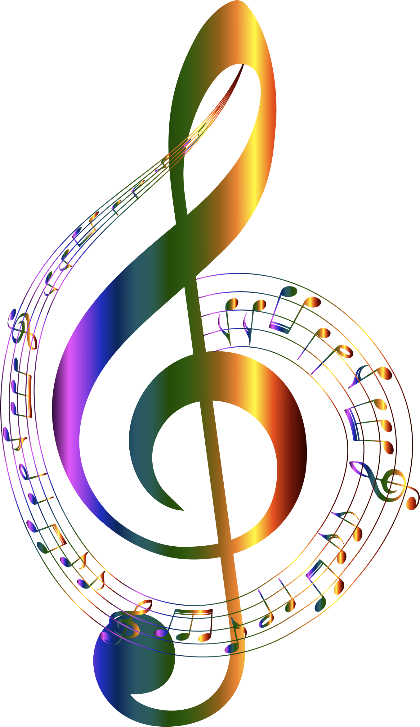 1354x2342 Chromatic Musical Notes Typography No Background By Gdj