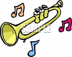 300x238 Clip Art Image Music Notes And A Trumpet