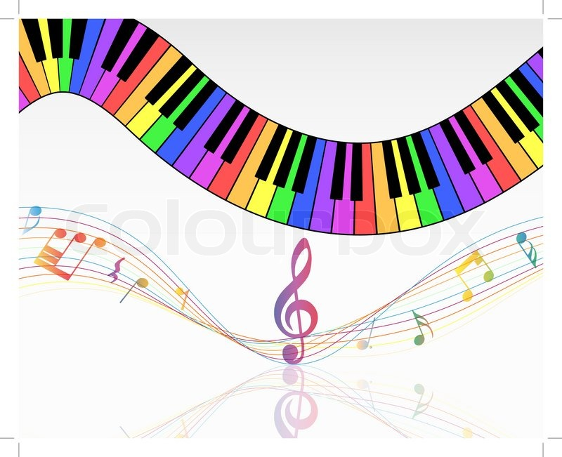 800x651 Musical Note Staff Stock Vector Colourbox