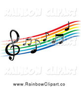 164x175 Royalty Free Sheet Music Stock Rainbow Designs