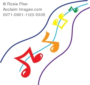 300x286 Clip Art Image Of Music Notes On A Staff