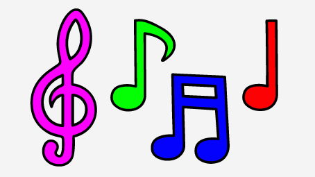 454x255 Music Notes Clipart Individual Free Collection Download