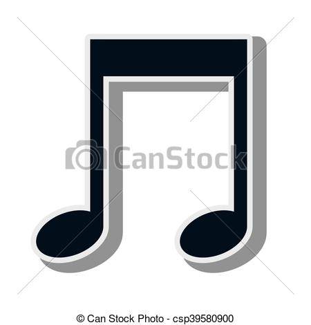 450x470 Music Note Symbol. Music Notes And Signs Composition Vector