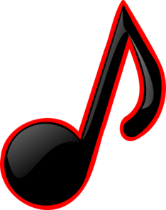 234x297 Blackred Music Note Clip Art