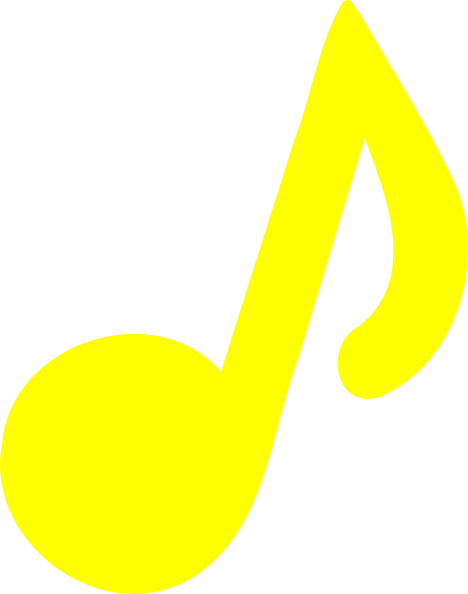 468x594 Yellow Music Note Clip Art