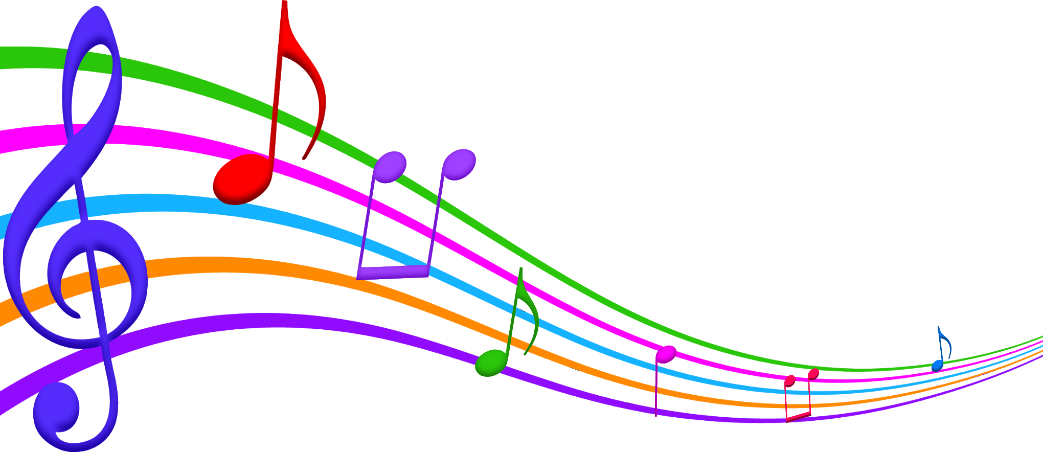 2040x884 Music Notes Clip Art Png Music Music Notes, Clip Art And Note