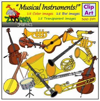 349x350 Music Instruments Clip Art Teaching Resources Teachers Pay Teachers