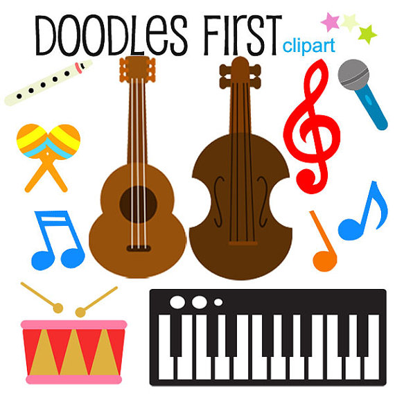 570x570 Musical Instruments Clipart Digital Clip Art For Scrapbooking