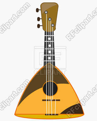 320x400 National Music Instrument Balalaika On White Background Is