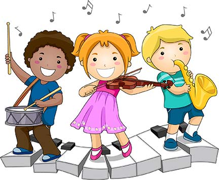 432x355 Musical Instruments Clipart Children Playing Musical Instruments