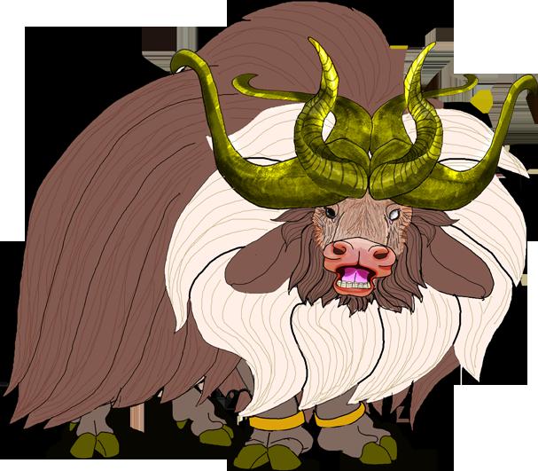 607x531 Musk Ox Monster Thing By Kirinworks
