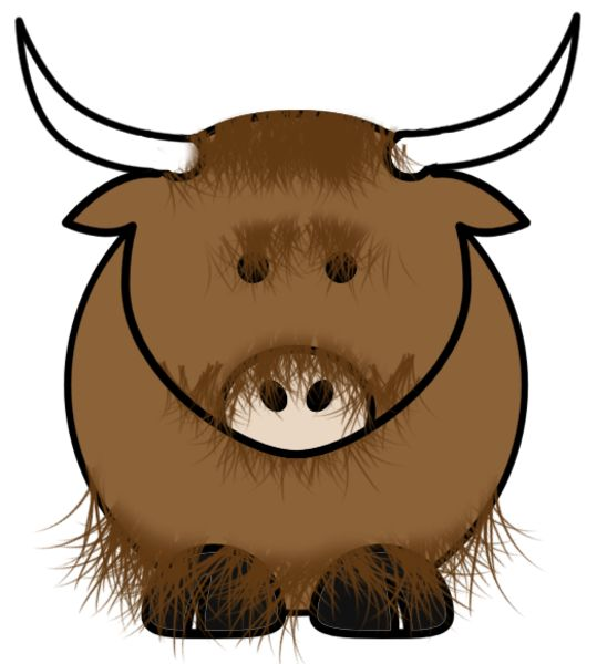 539x600 7 Best Yaks Images On Animal Drawings, Art Clipart