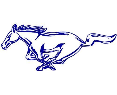 500x406 Gold Mustang Logo Clip Art