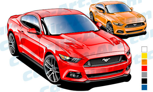 500x300 2015 Mustang Clipart
