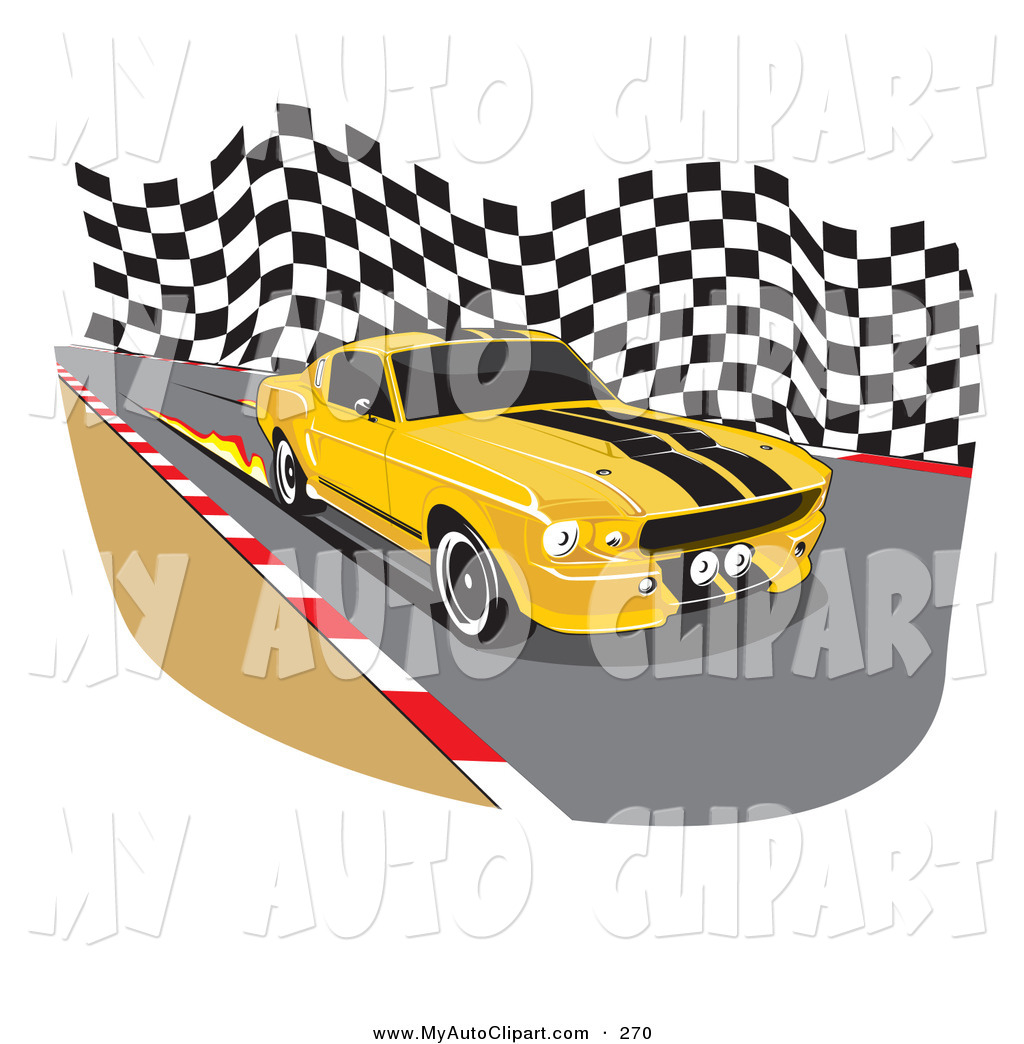 1024x1044 Clip Art Of A Yellow 1967 Ford Mustang Gt500 Muscle Car With Black