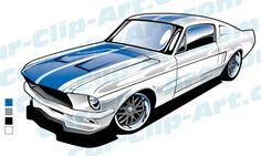 236x141 Mustang Cobra Vector Art Bundle