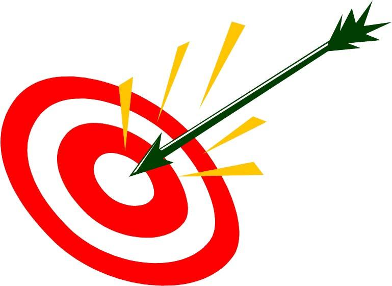 769x561 Target On Body Shot Arrow Clipart