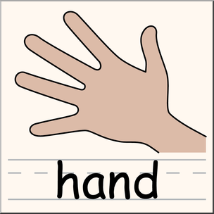 304x304 Clip Art Parts Of The Body Hand Color I Abcteach