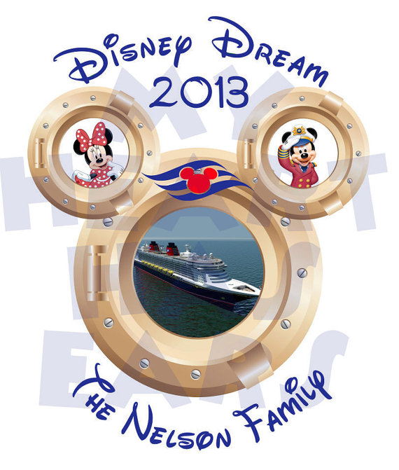 570x671 Disney Dream Cruise Portholes Family Vacation Digital Clip Art
