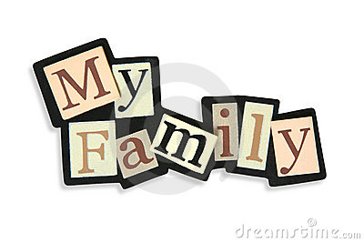 400x267 My Family Words Clipart