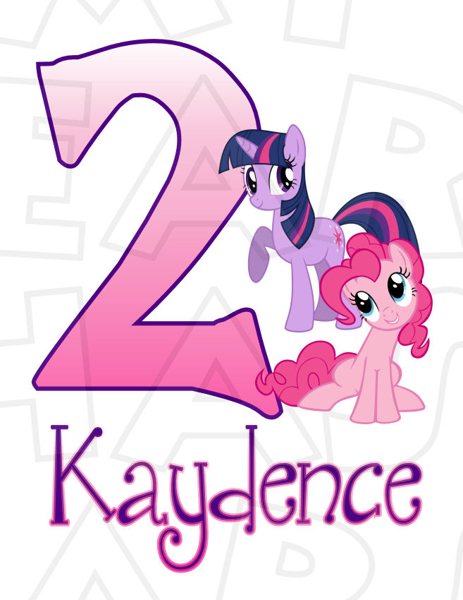 657x850 My Little Pony Birthday Custom Name And Any Age Digital Clip Art