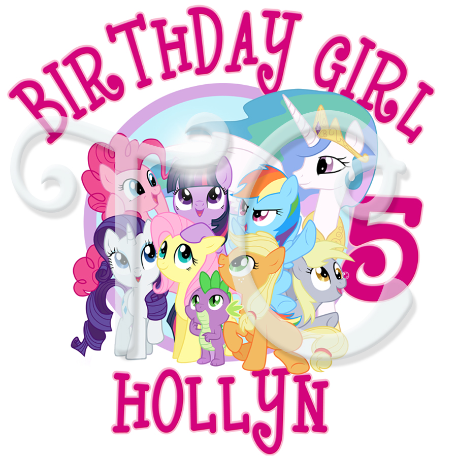 900x900 My Little Pony Personalized Birthday T Shirt
