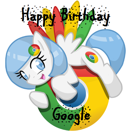 443x443 Happy Birthday Google! My Little Pony Friendship Is Magic