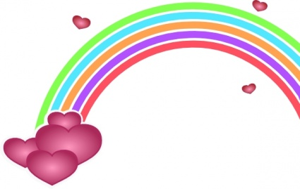 425x269 Free Download Of Valentine Rainbow Clip Art Vector Graphic