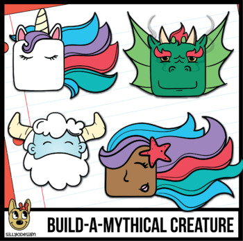 350x348 Build A Mythical Creature! Emotions Clip Art Animals Block