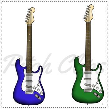 350x350 Electric Guitar Clipart (Clip Art)
