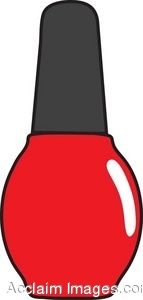 143x300 Clip Art Of A Bottle Of Nail Polish
