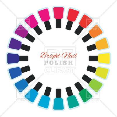 400x400 Bright Palette Of Nail Polish Royalty Free Vector Clip Art Image